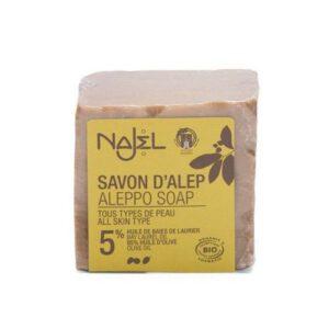 NAJEL bio mydło syryjskie 5% ALEPPO 200g