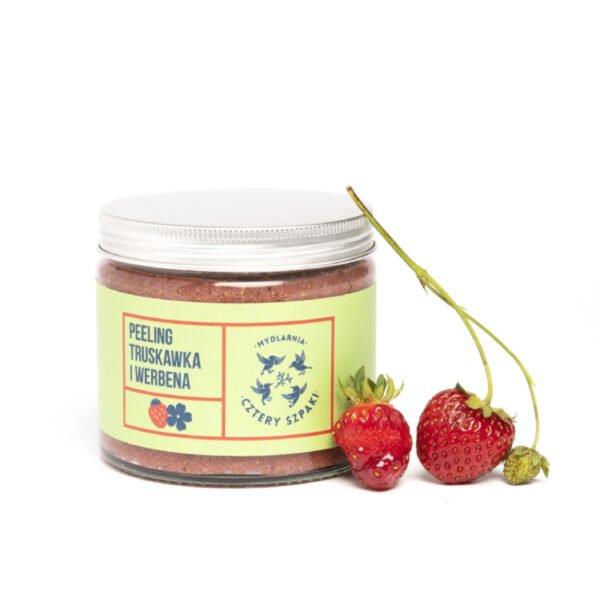 Naturalny peeing do ciała truskawka i werbena