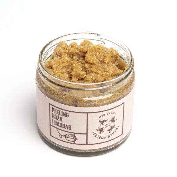 Naturalny peeling róża i baobab z cukrem trzcinowym