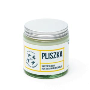 Naturalna Świeca Sojowa, Cytrynowa - PLISZKA