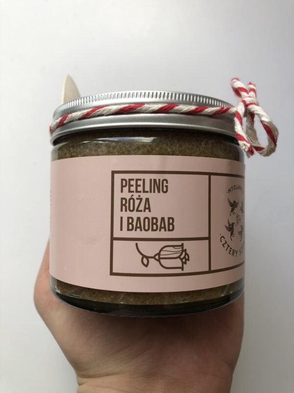 Naturalny Peeling Róża i Baobab