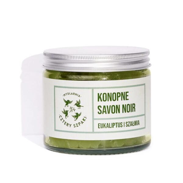 Ekologiczne konopne mydło savon noir eukaliptus i szałwia