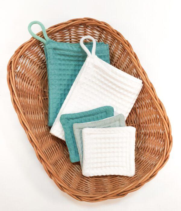 Wielorazowe ręczniki i waciki do twarzy