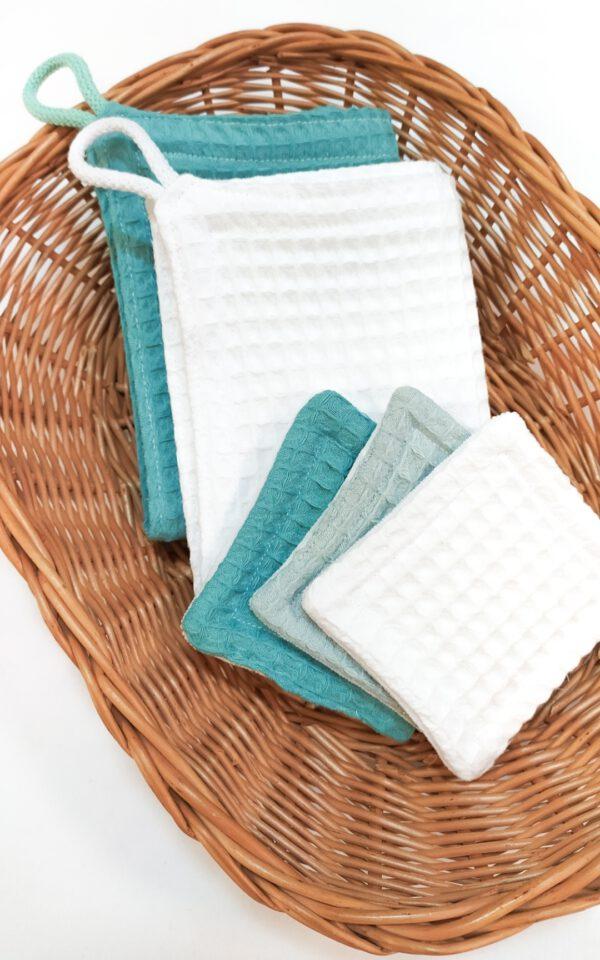Ręczniki i waciki do twarzy wielokrotnego użytku