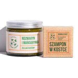Zestaw rozmaryn i mandarynka szampon i peeling cukrowy do ciała